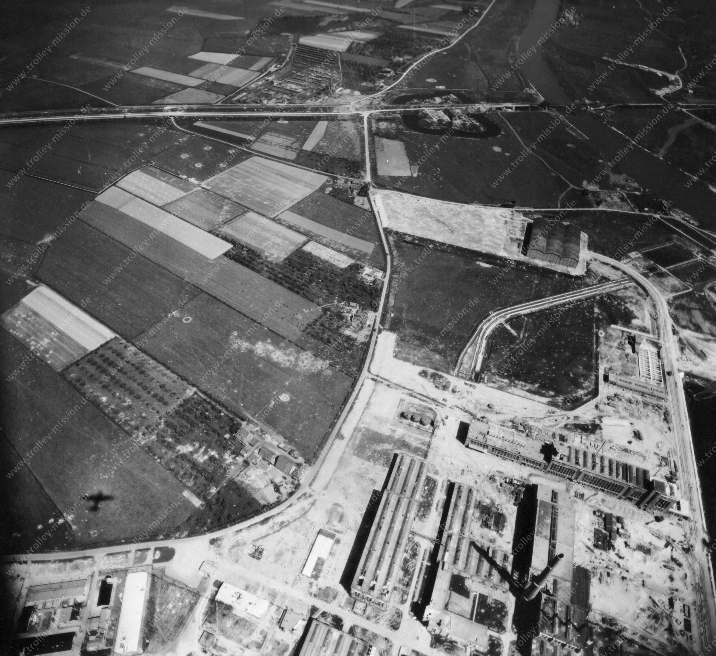 Nieuwe Haven Arnheim - Luftbild Mai 1945 - Luftbildserie 4/5 der US Air Force (Niederlande)