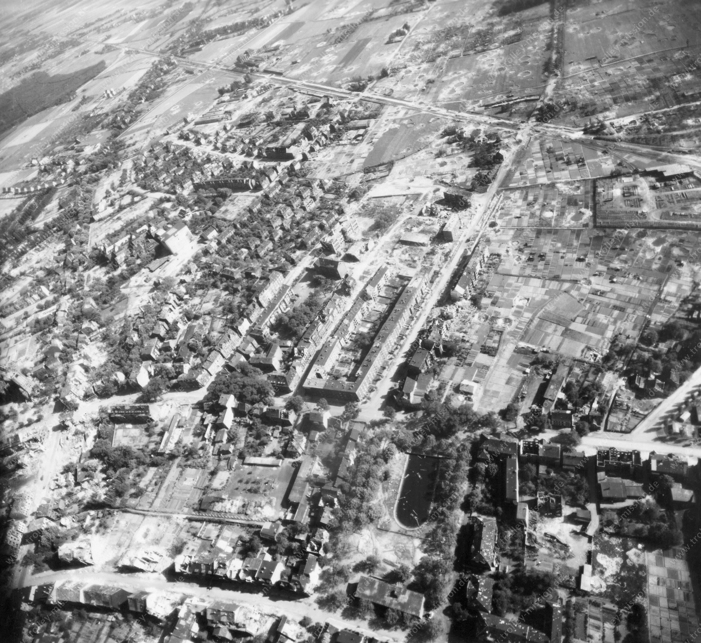 Luftbild von Hamm am 12. Mai 1945 - Luftbildserie 5/5 der US Air Force