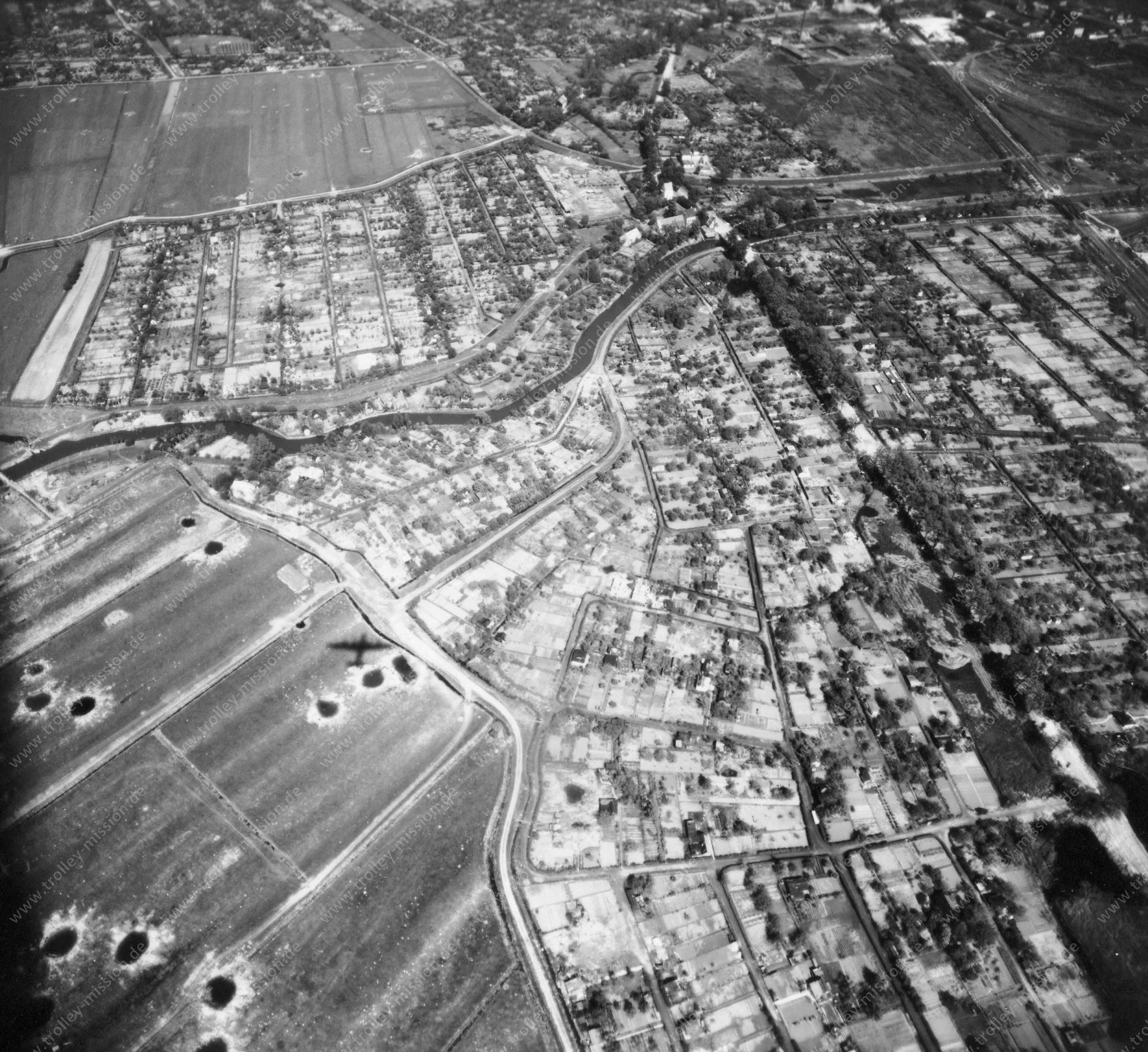 Luftbild von Bremen am 12. Mai 1945 - Luftbildserie 3/12 der US Air Force