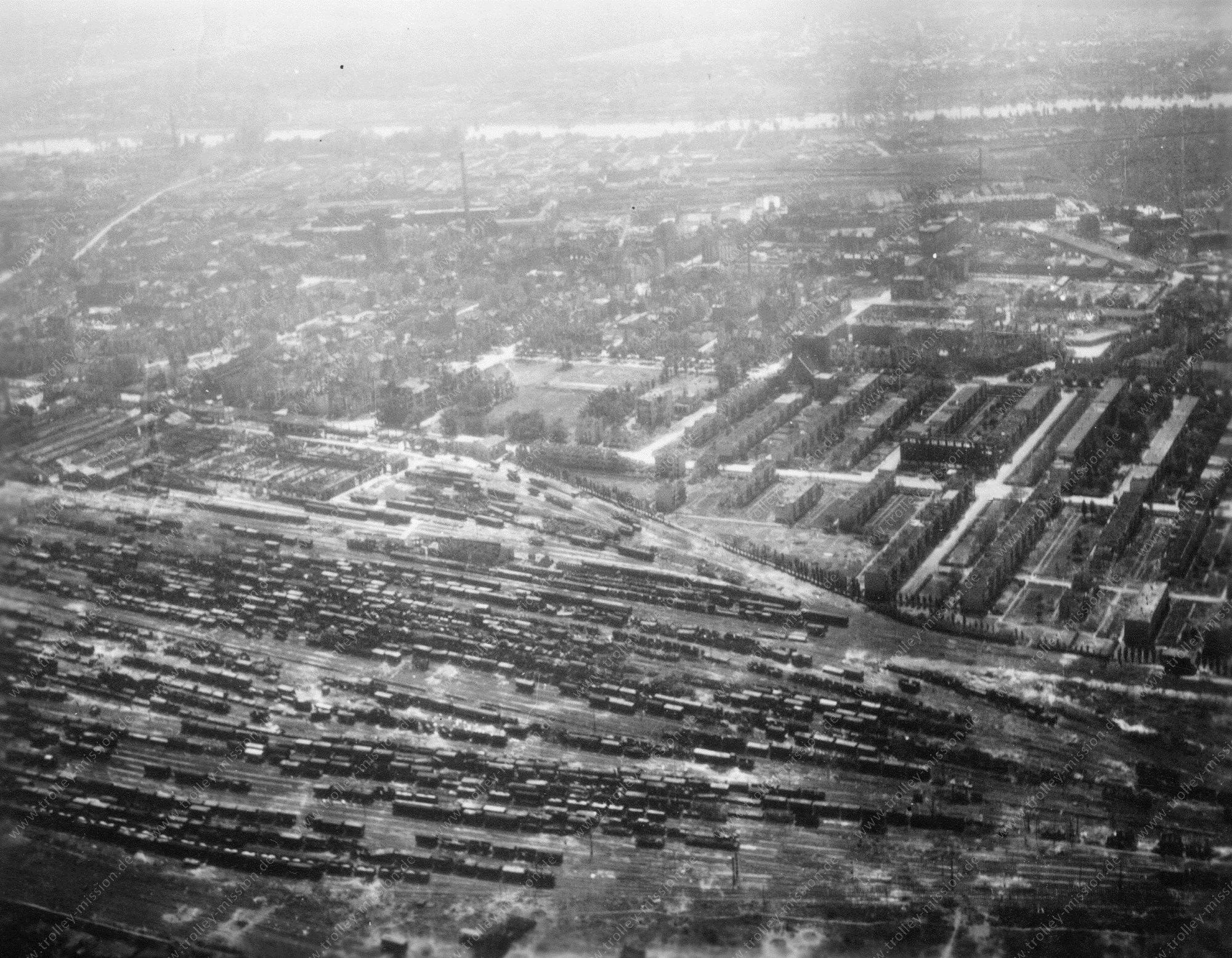 Luftbild Güterbahnhof Frankfurt am Main