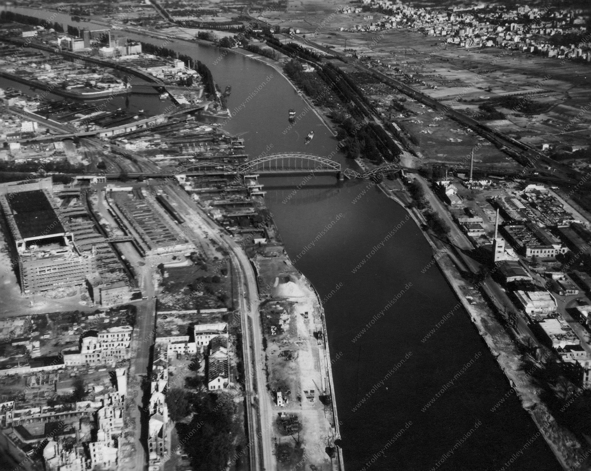 Frankfurt am Main Luftbild Großmarkthalle und Deutschherrnbrücke