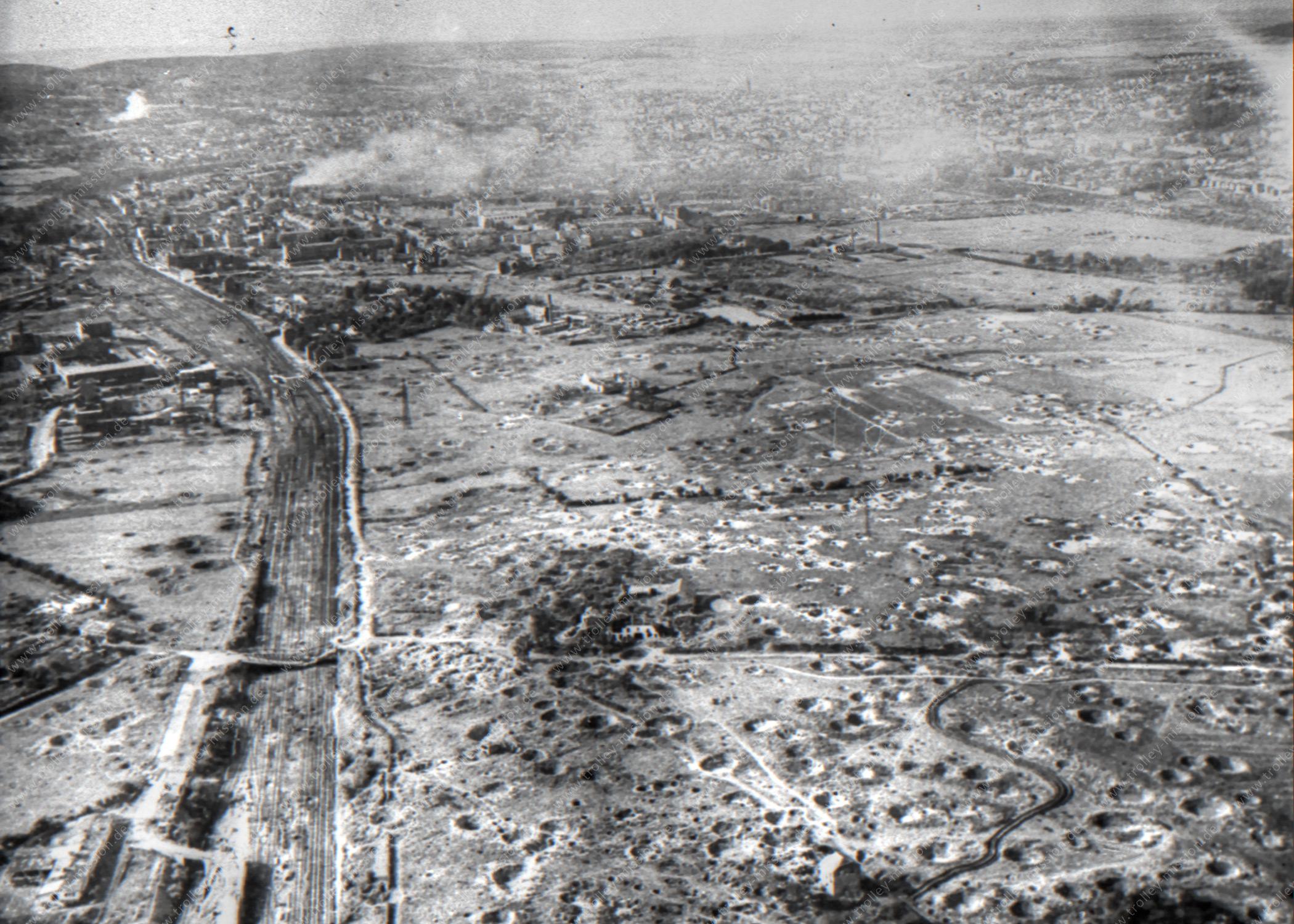 Luftaufnahme von Aachen aus dem Zweiten Weltkrieg - Stadtteil Rothe Erde