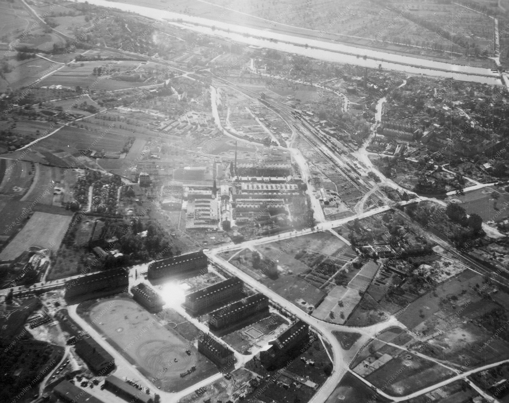 Aschaffenburg Luftbild Pionierkaserne und Südbahnhof