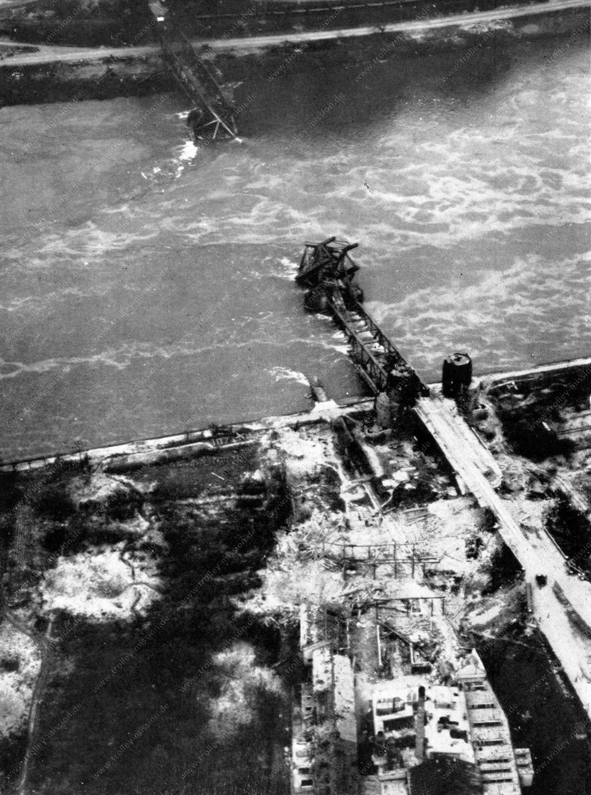 Brücke von Remagen (Ludendorff-Brücke) im Zweiten Weltkrieg