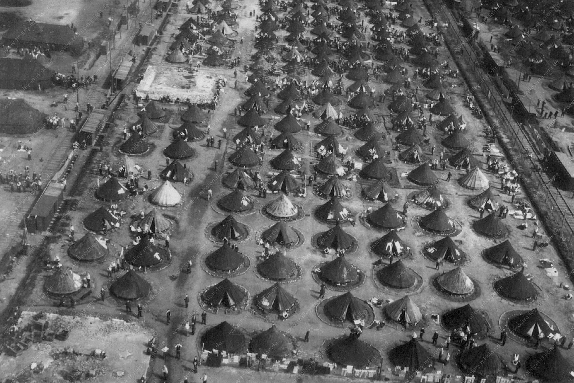 Kriegsgefangenenlager Zedelgem - Luftbild im Mai 1945 (Belgien)