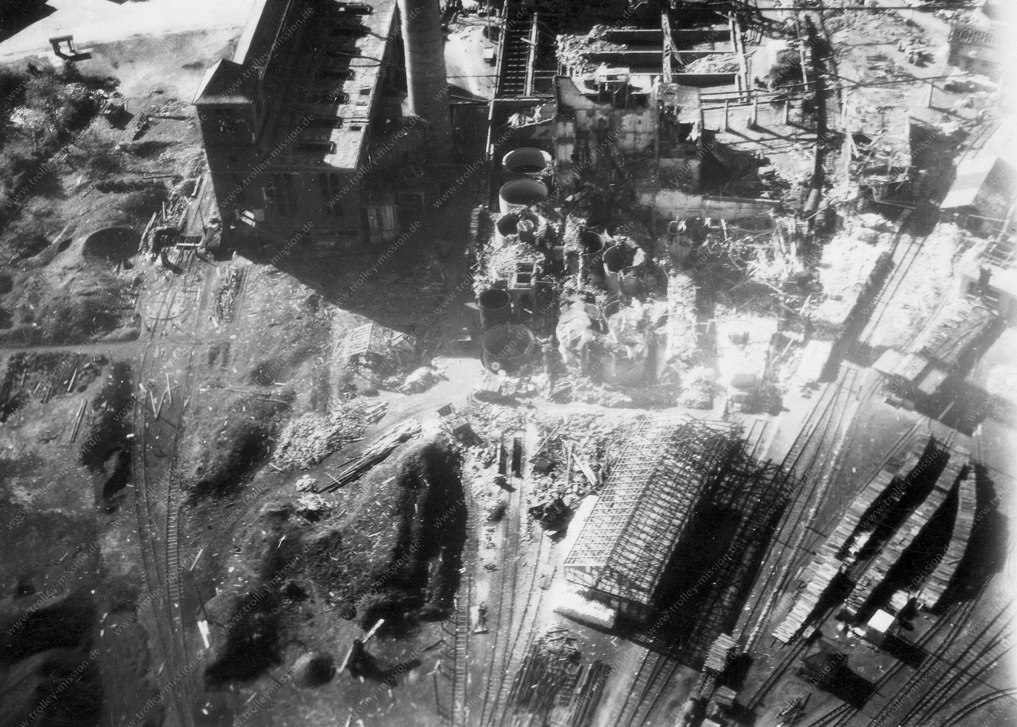 Unbekanntes Luftbild Industrie und Eisenbahngleise