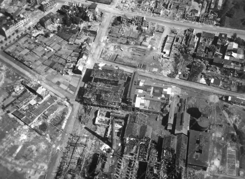 Oberhausener Zinkhütte - Luftbild im Zweiten Weltkrieg