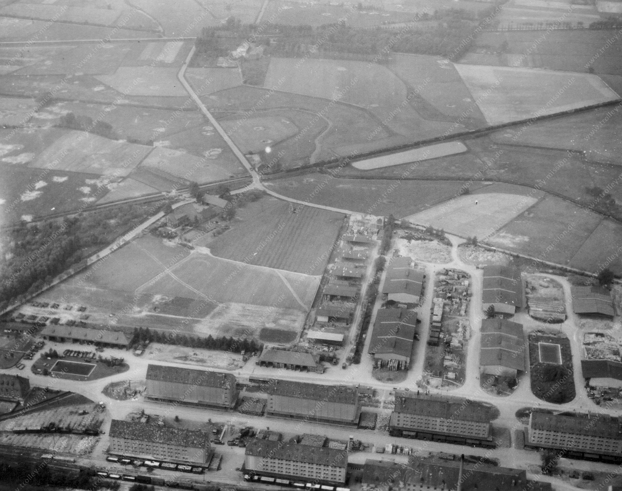 Münster Luftbild der Lagerhäuser an den Speichern in Münster-Coerde