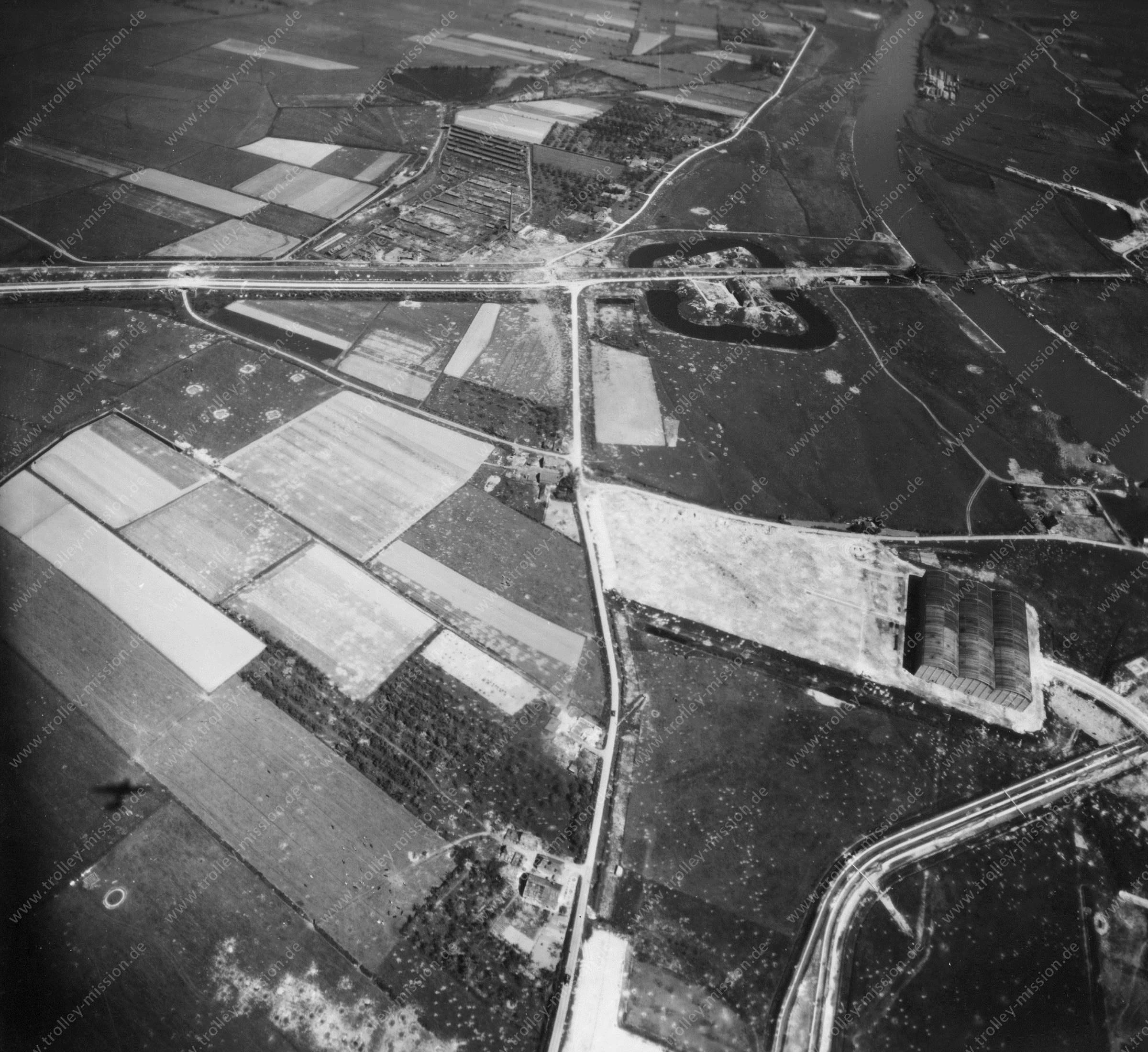 Nieuwe Haven Arnheim - Luftbild Mai 1945 - Luftbildserie 5/5 der US Air Force (Niederlande)