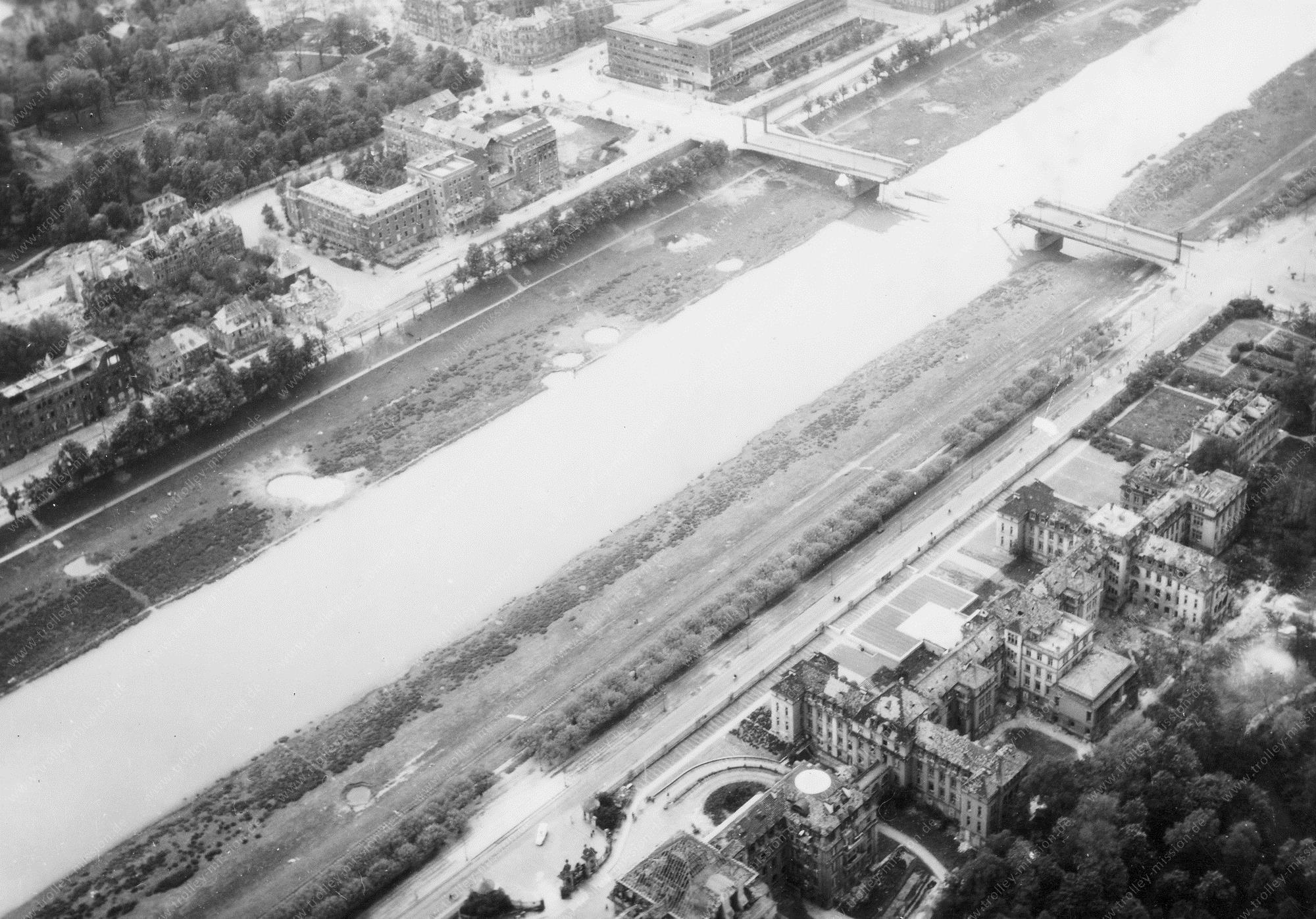 Mannheim Luftbild Friedrich-Ebert-Brücke