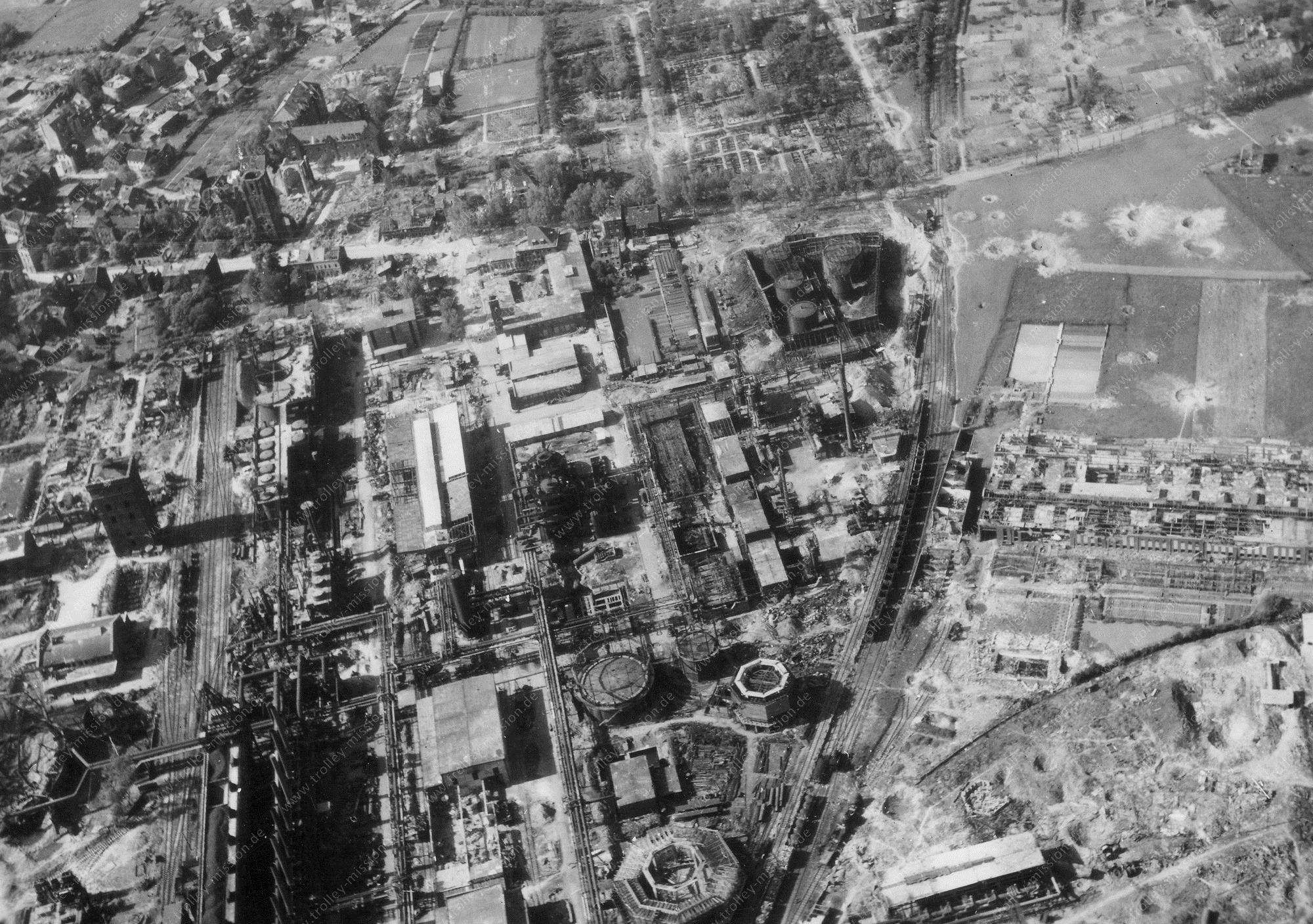 Bochum Luftbild Zeche Hannibal und Hydrierwerk von Krupp