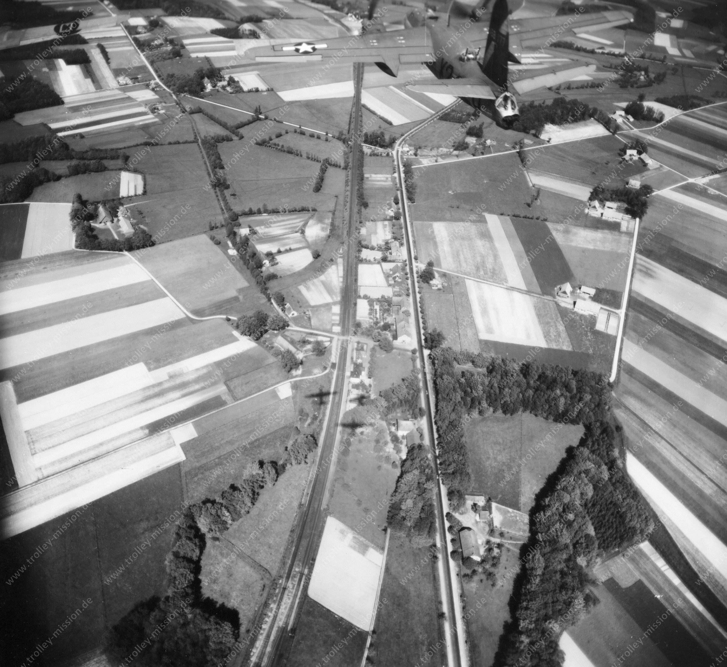 Osnabrück Luftbild Eisenbahngleise entlang der Bremer Straße in Belm