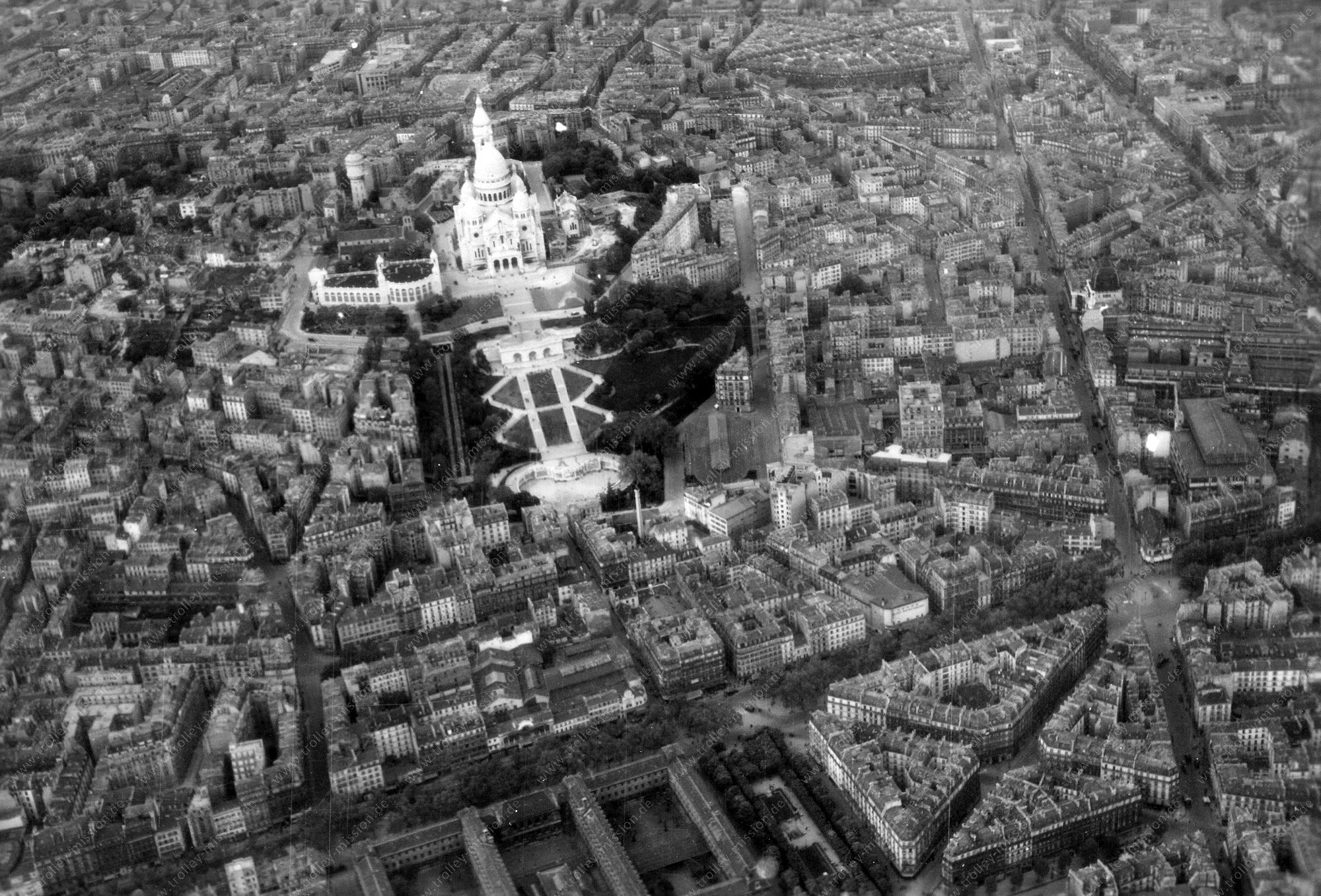 Montmartre Paris Luftbild Basilika Sacré-Cœur (Frankreich)