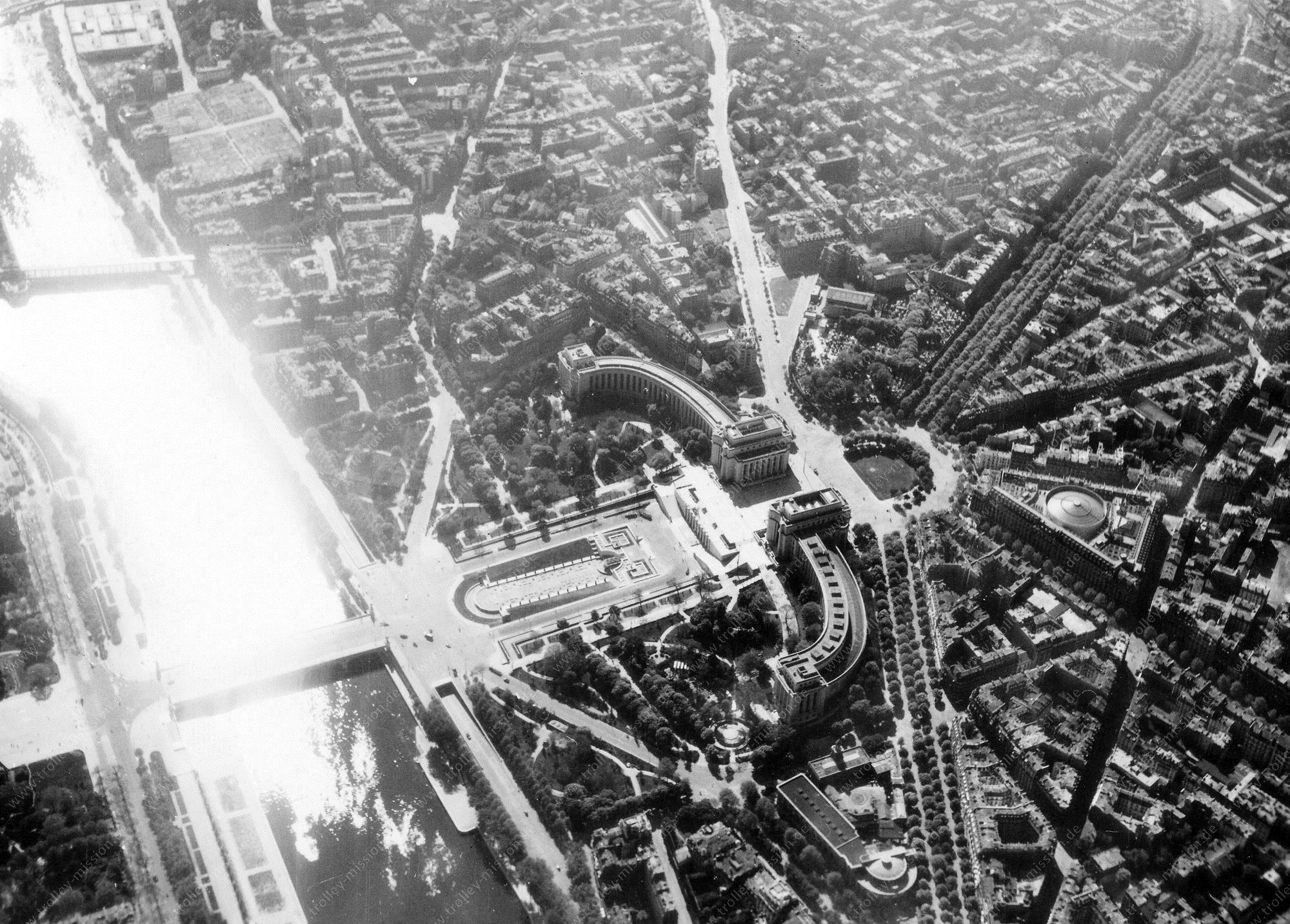 Paris 1945 Luftbild Palais de Chaillot 2/3 (Frankreich)