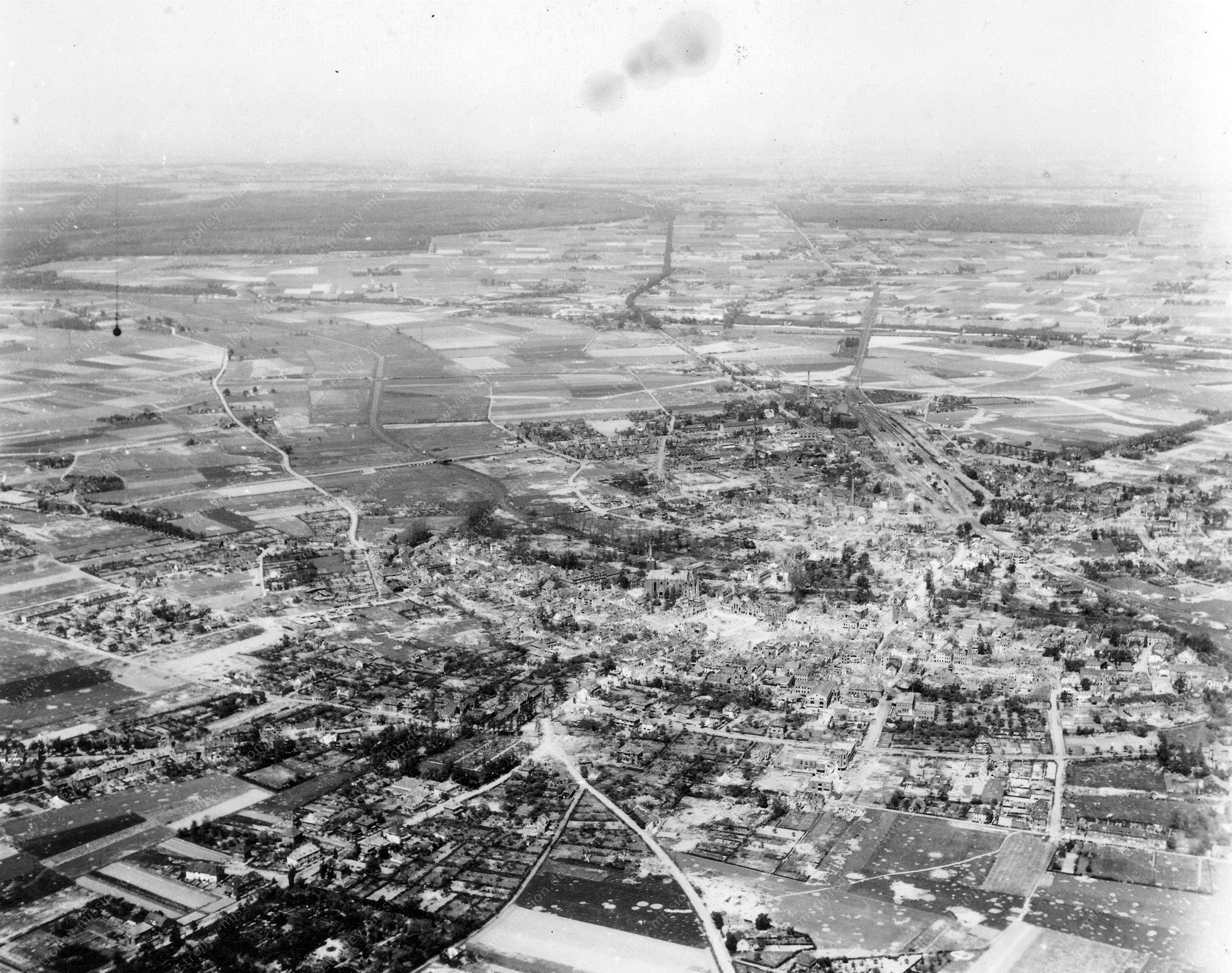 Luftbild der Stadt Goch im Kreis Kleve