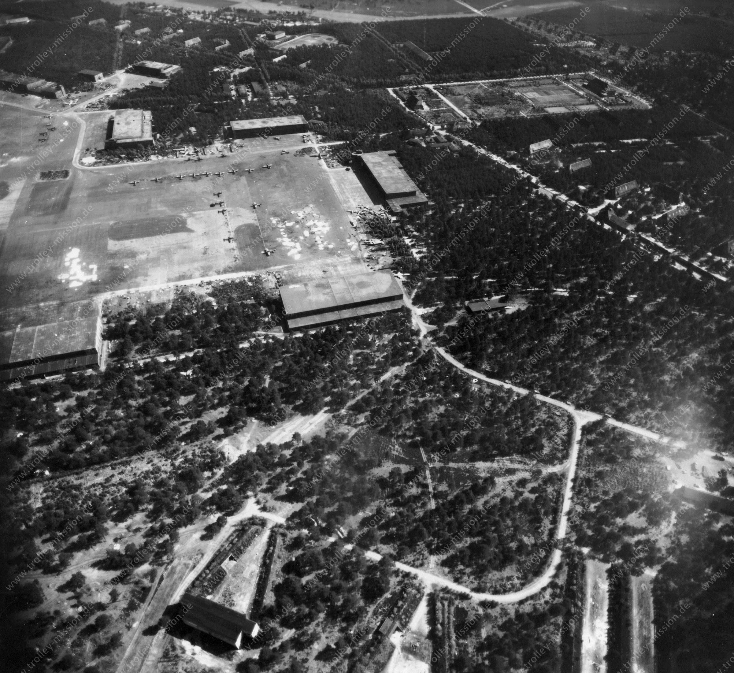 Fassberg Air Base - Air Photo World War II