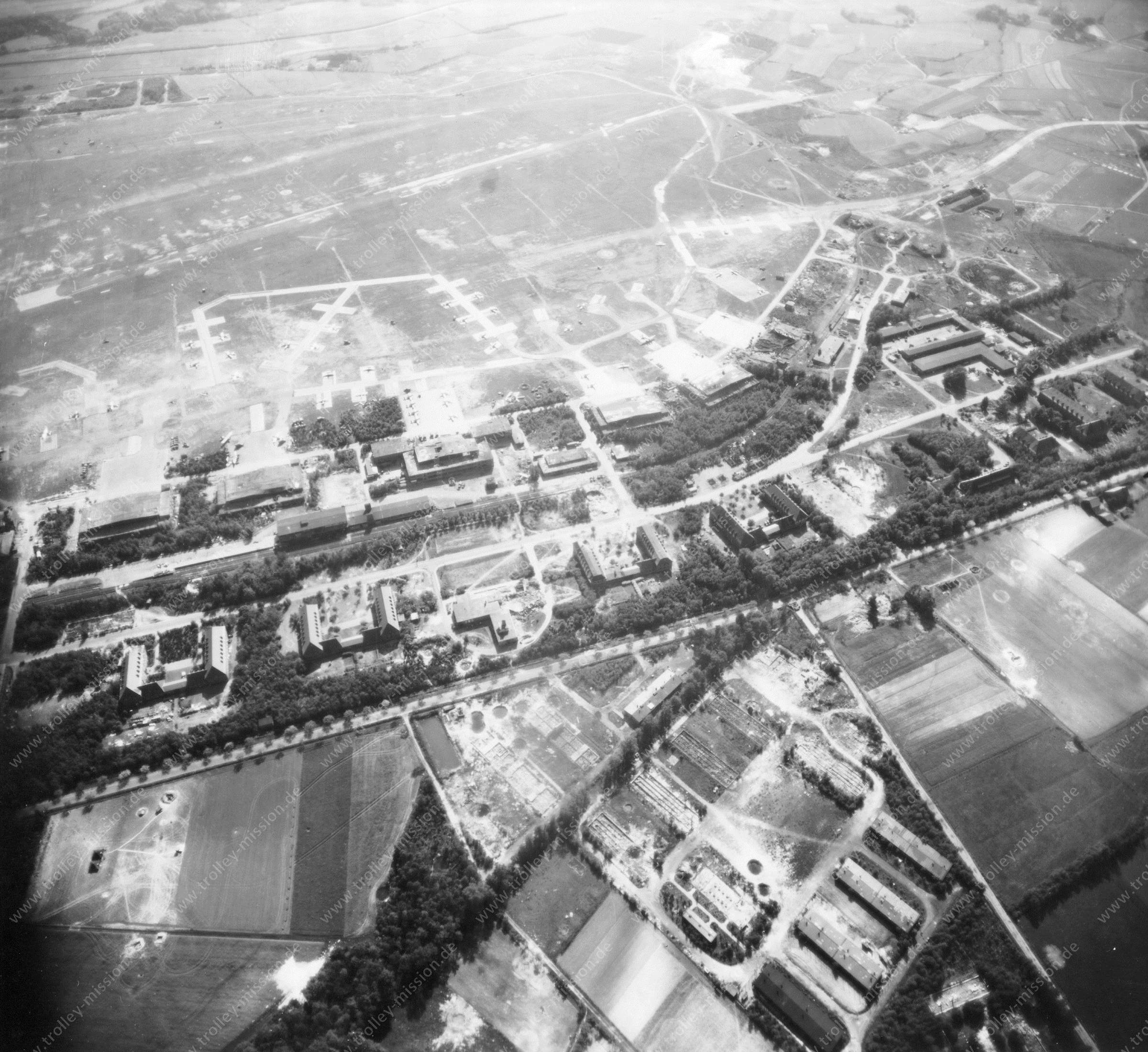 Luftwaffe Airfield Gütersloh - Air Photo World War II