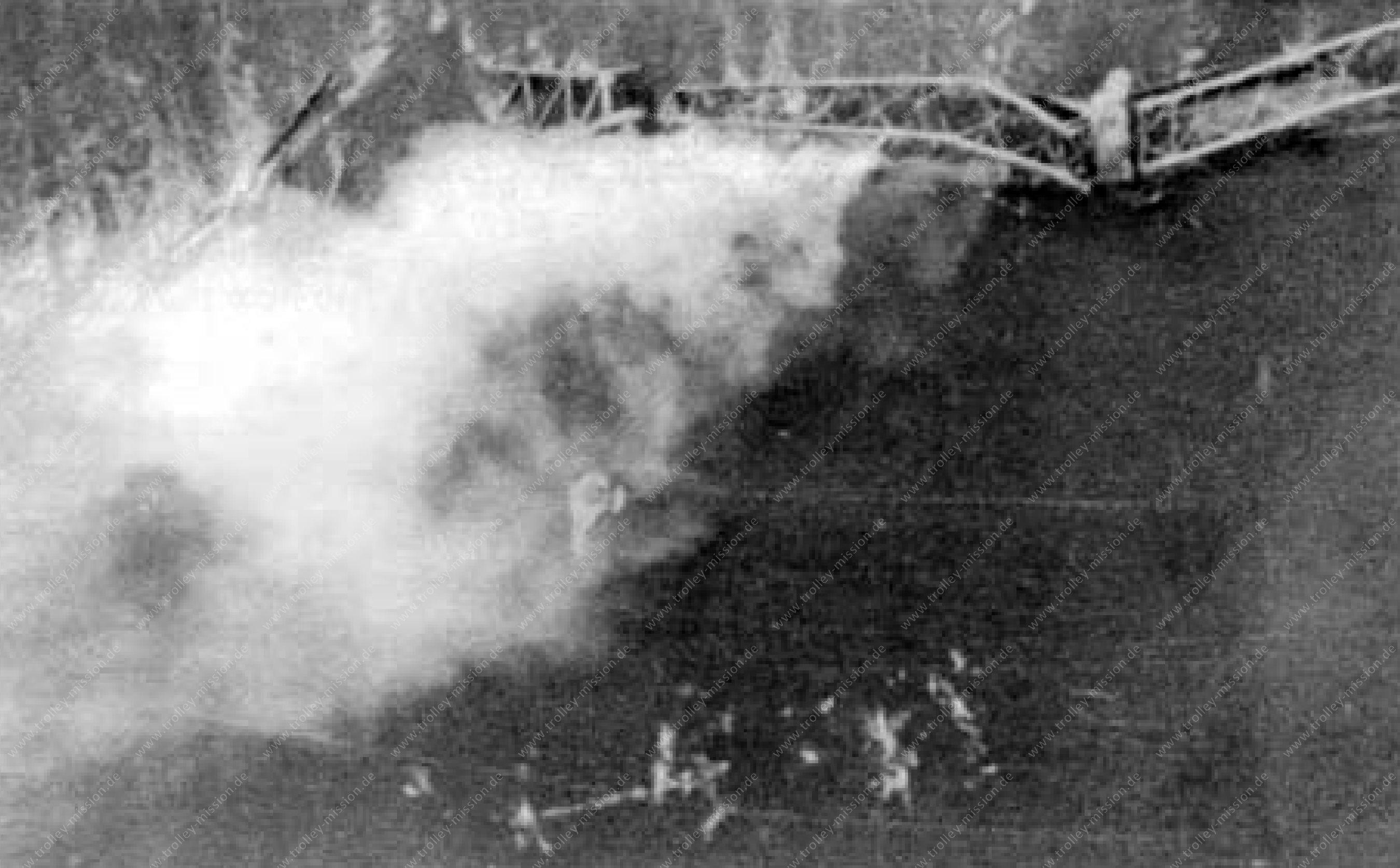 Airplane crash during the Trolley Mission near Neuwied at the Urmitzer Railway Bridge