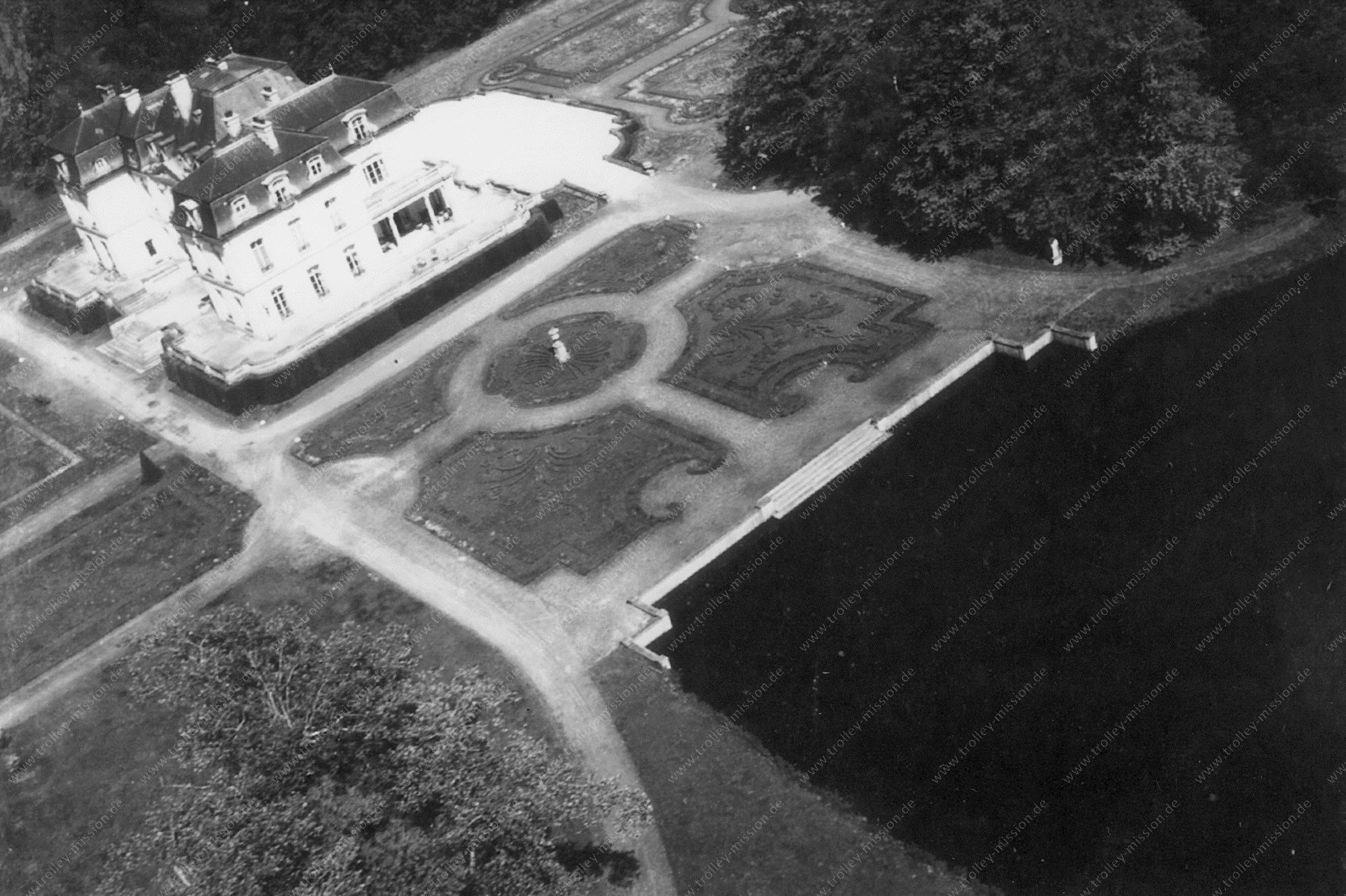Kasteel de Breidels in Oostkamp - Luchtopname uit de Tweede Wereldoorlog van mei 1945
