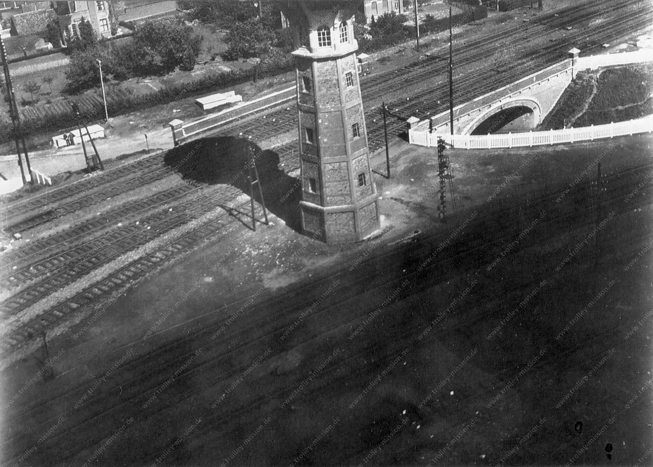 Treinstation Denderleeuw Watertoren Luchtfoto Wereldoorlog