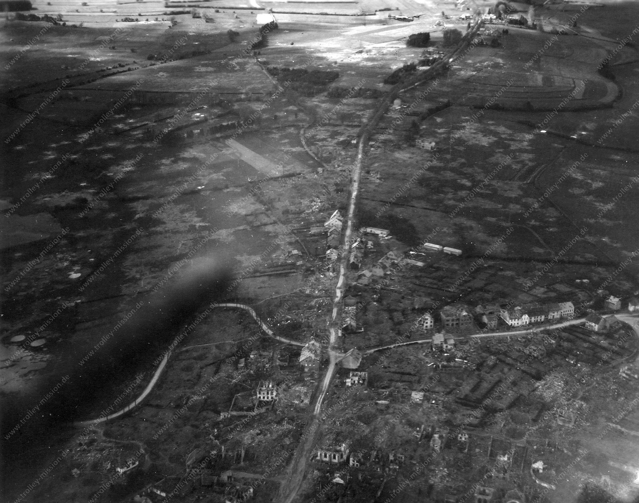 Sankt Vith Luchtfoto Wereldoorlog 1945