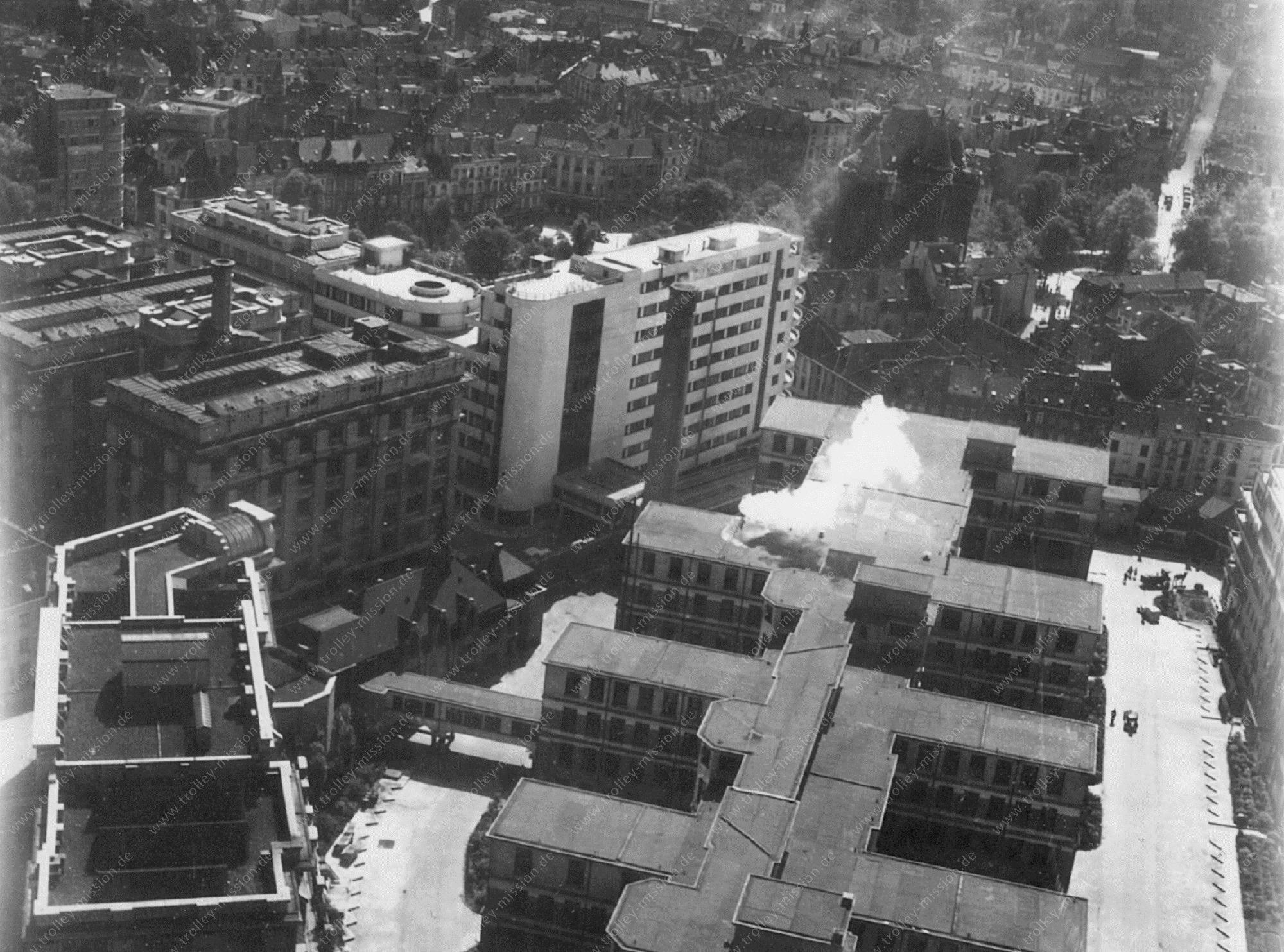Foto van Universitair Ziekenhuis Centrum Brussel (UMC Sint-Pieter) uit de 2e wereldoorlog