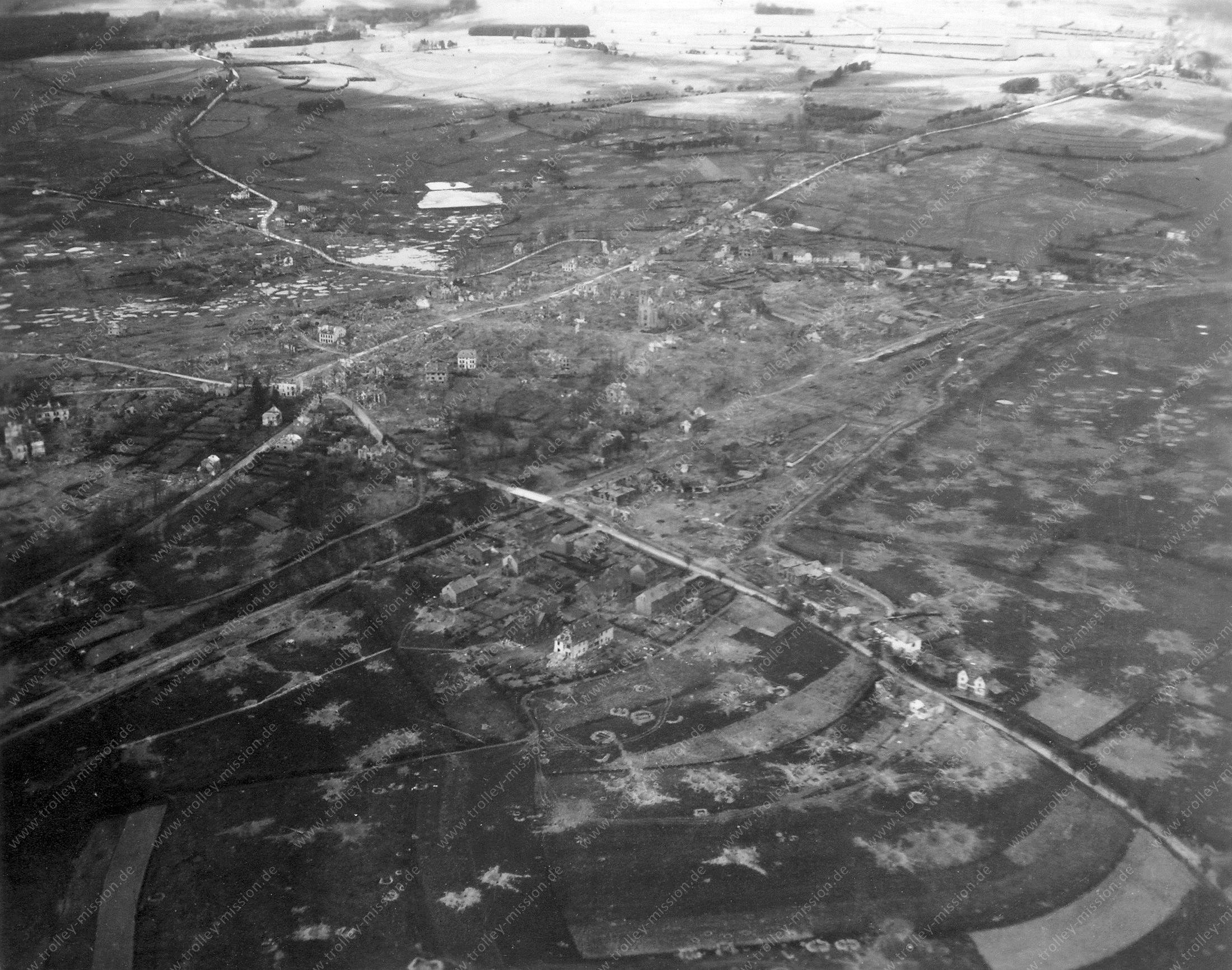 Sankt Vith Vliegfoto Wereldoorlog 1945
